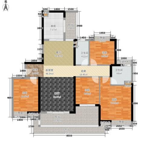 广州亚运城运动员村4室0厅2卫1厨186.00㎡户型图