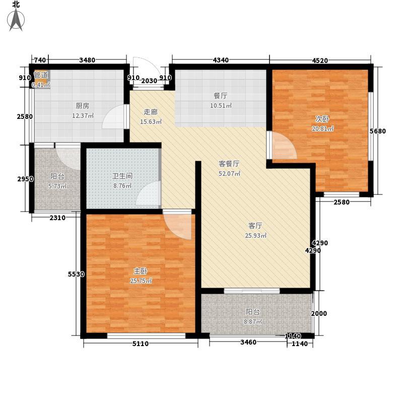 学府花苑户型图户型图 2室2厅1卫1厨
