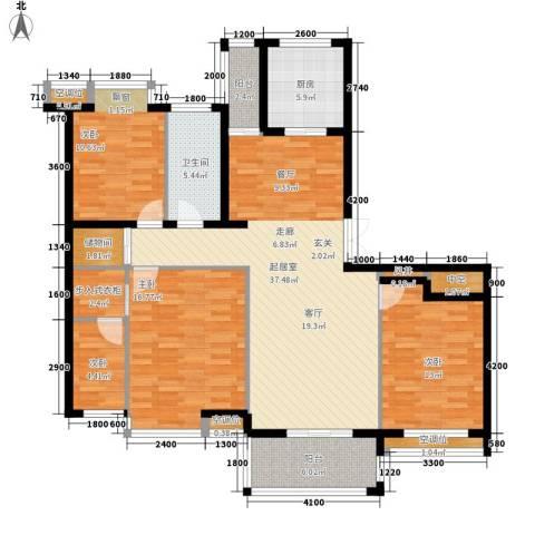 盛世香园4室0厅1卫1厨141.00㎡户型图