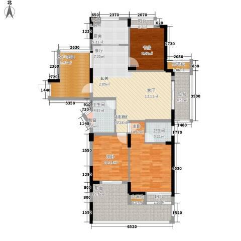 盛世香园3室0厅2卫1厨122.00㎡户型图