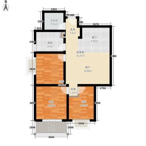 公交五公司家属院3室0厅1卫1厨112.00㎡户型图