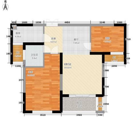 长高圆梦佳苑2室0厅1卫1厨84.00㎡户型图