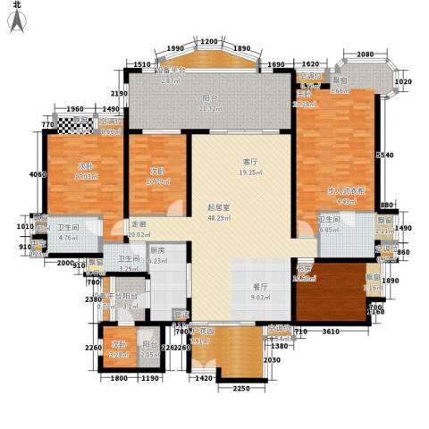 雅景湾5室0厅3卫1厨206.00㎡户型图