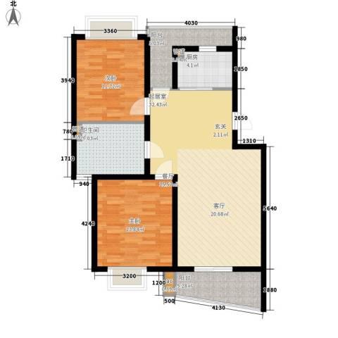 圣雅园·丽景2室0厅1卫1厨92.00㎡户型图