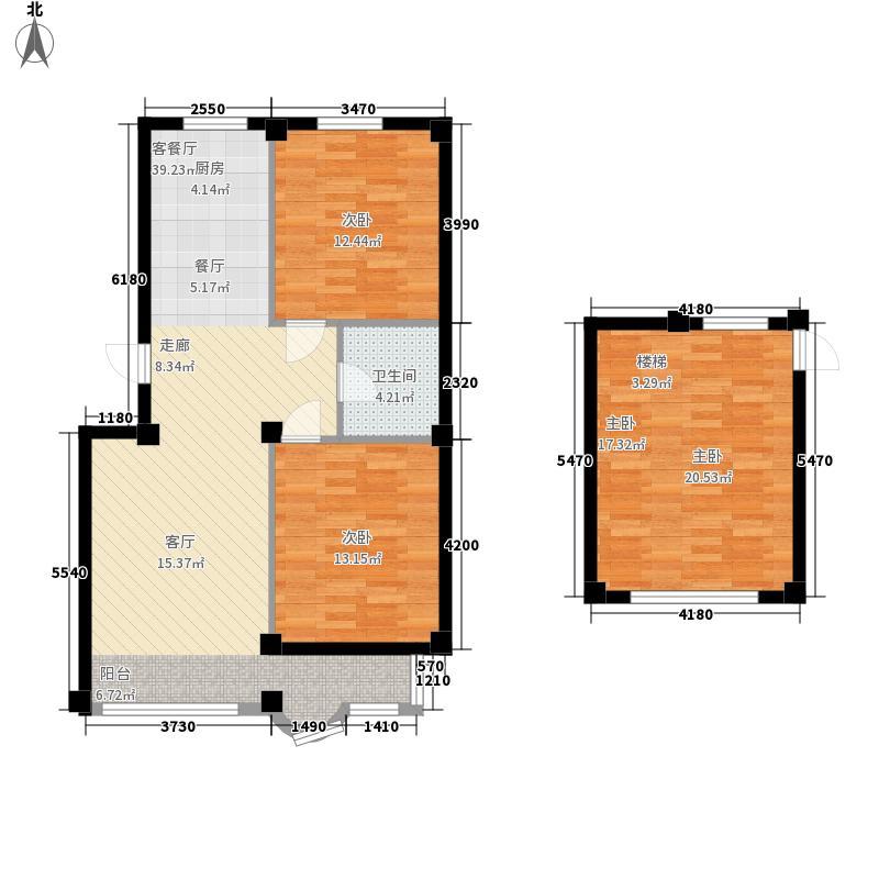 南岭花园98.29㎡户型2室2厅1卫1厨