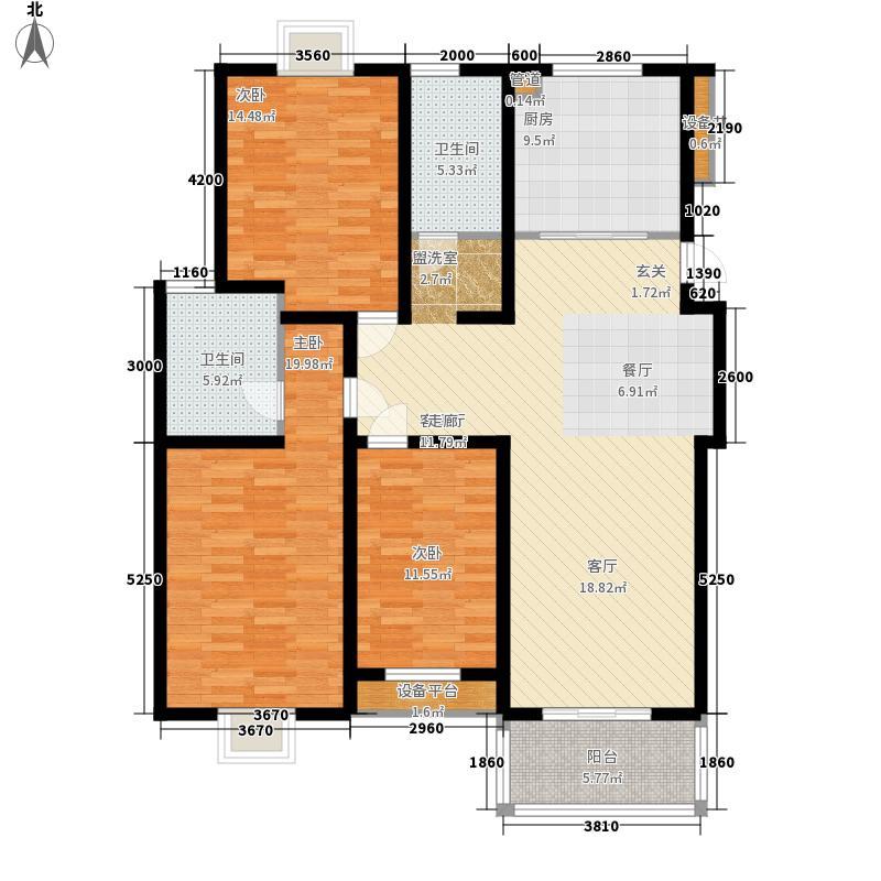 扬州印象花园133.00㎡扬州印象花园户型图B5户型3室2厅2卫1厨户型3室2厅2卫1厨
