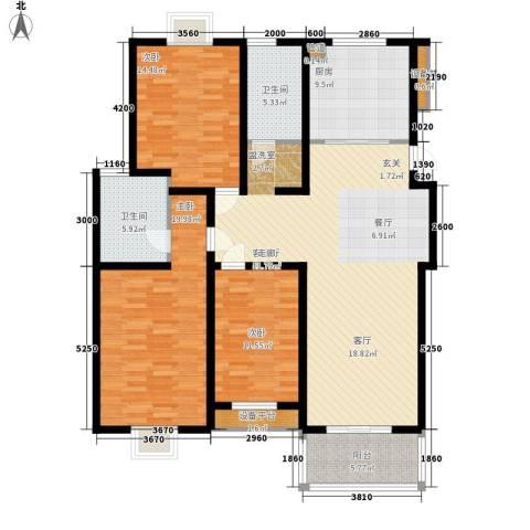 扬州印象花园3室1厅2卫1厨133.00㎡户型图