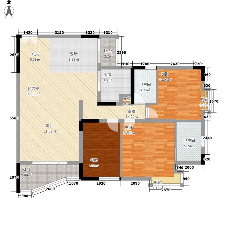 名门世家127.57㎡名门世家户型图户型图103室2厅2卫1厨户型3室2厅2卫1厨