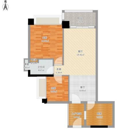 百花园2室1厅1卫1厨105.00㎡户型图