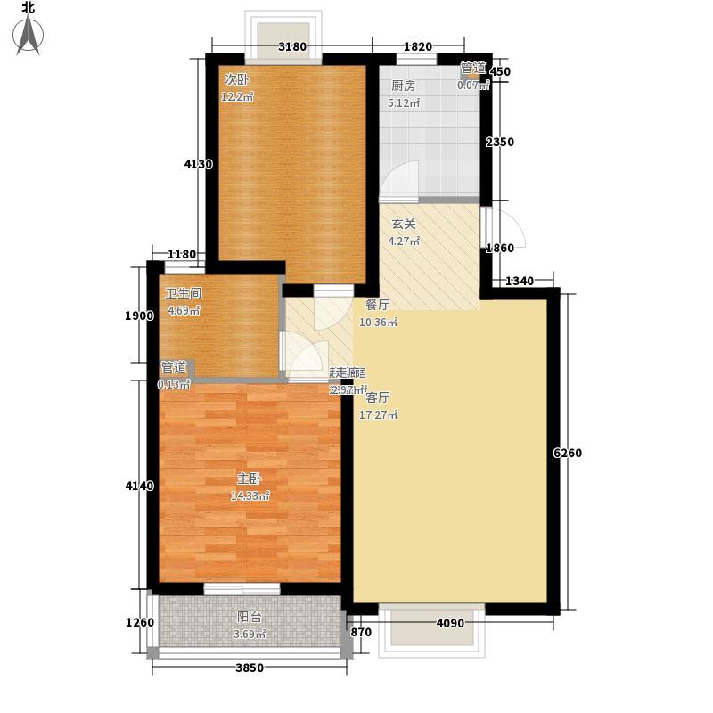 圣雅园·丽景77.98㎡(已售完)户型2室2厅2卫1厨