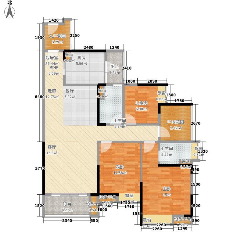 自由人花园115.00㎡二期F4户型3室2厅