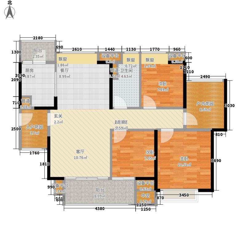 自由人花园104.00㎡二期F1户型3室2厅