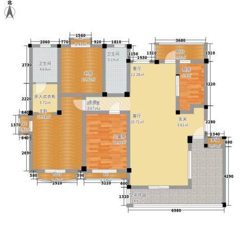铭雅欧洲城3室0厅2卫1厨121.00㎡户型图