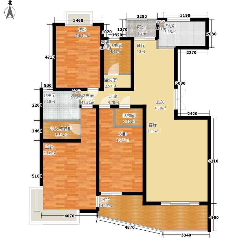 圣雅园·丽景157.81㎡(已售完)户型3室2厅2卫1厨