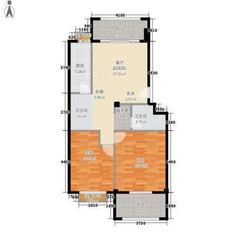 福华凯旋门2室0厅1卫1厨107.00㎡户型图