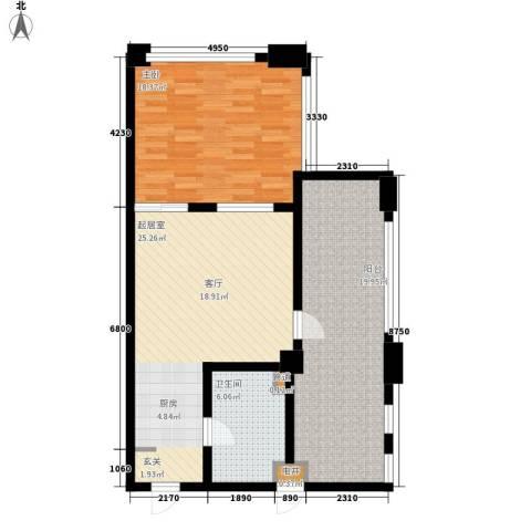 洪客隆第一街区1室0厅1卫0厨81.00㎡户型图