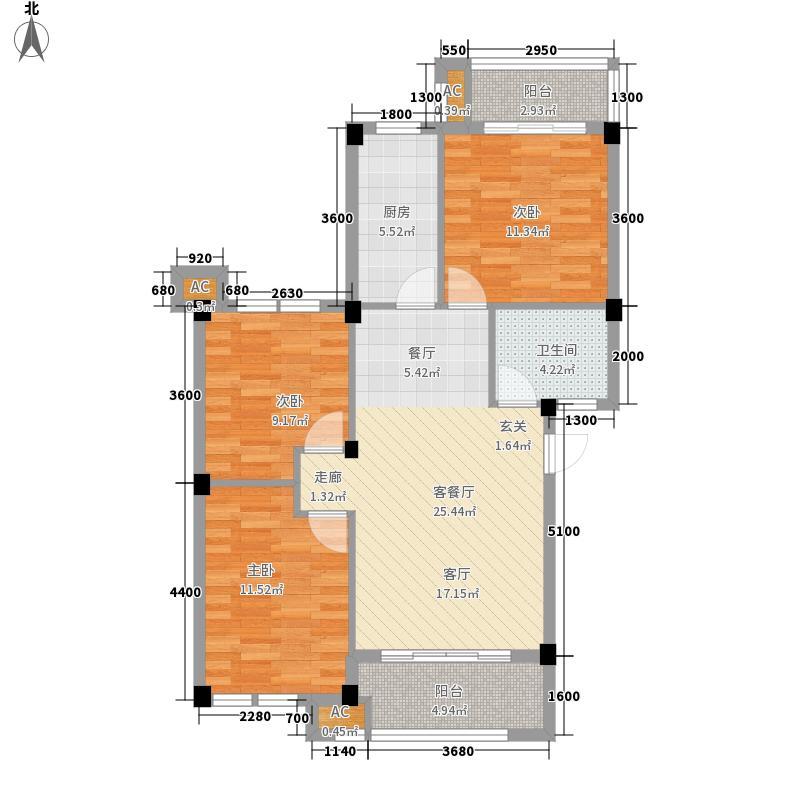新仓山洋楼89.94㎡新仓山洋楼户型图三房独立空间型3室3厅1卫1厨户型3室3厅1卫1厨