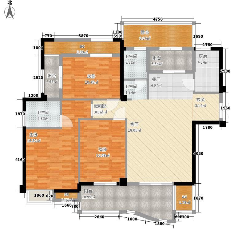 正得格林兰庭135.00㎡12、15、18#楼F户型