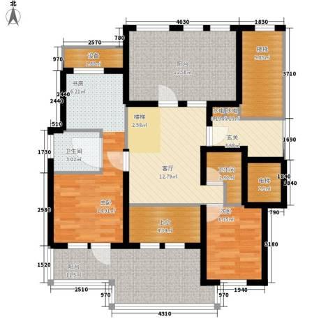 华润中央公园2室1厅2卫0厨97.00㎡户型图