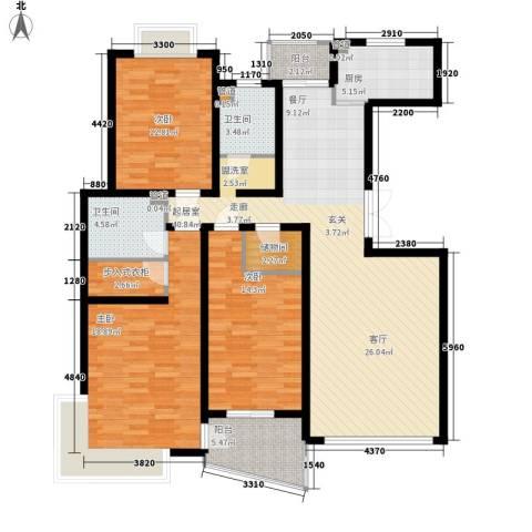 圣雅园·丽景3室0厅2卫1厨131.00㎡户型图