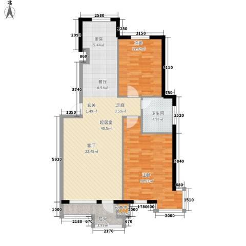 君悦天下2室0厅1卫0厨89.00㎡户型图