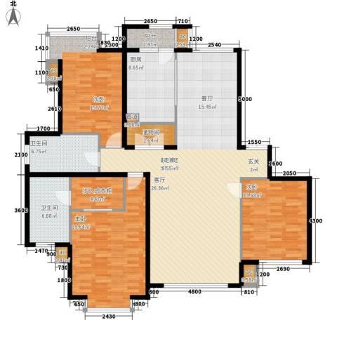 三重星都心3室0厅2卫1厨189.00㎡户型图
