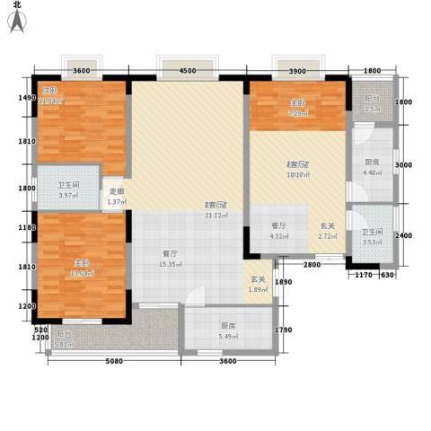 三重星都心2室0厅2卫2厨160.00㎡户型图