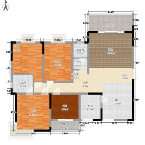 三重星都心4室0厅2卫1厨181.00㎡户型图