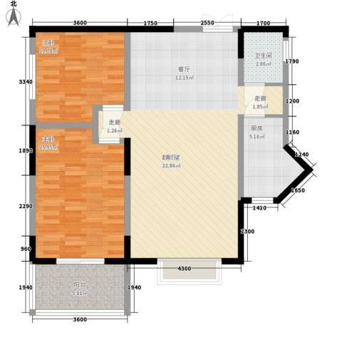 三重星都心2室0厅1卫1厨110.00㎡户型图