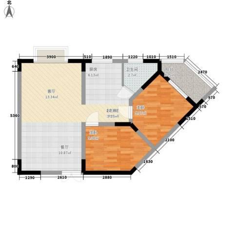 三重星都心2室0厅1卫0厨83.00㎡户型图