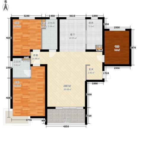 水榭花都3室0厅2卫1厨144.00㎡户型图