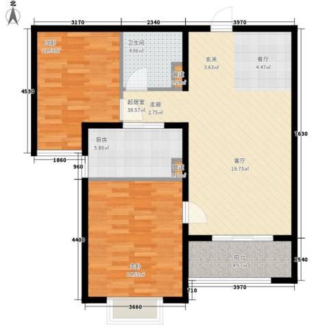 水榭花都2室0厅1卫1厨101.00㎡户型图