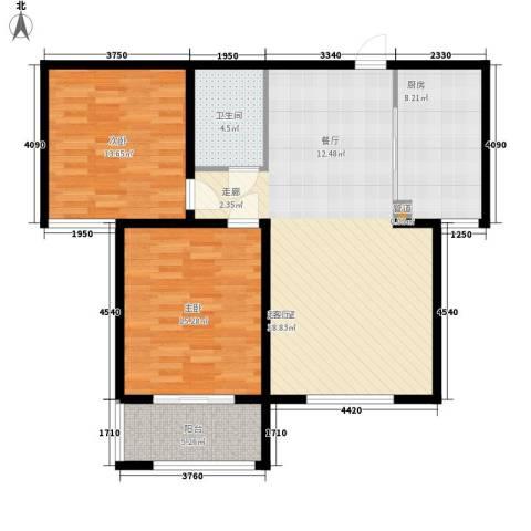水榭花都2室0厅1卫1厨112.00㎡户型图