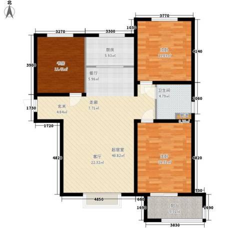 水榭花都3室0厅1卫1厨138.00㎡户型图