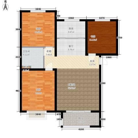 水榭花都3室0厅1卫1厨131.00㎡户型图