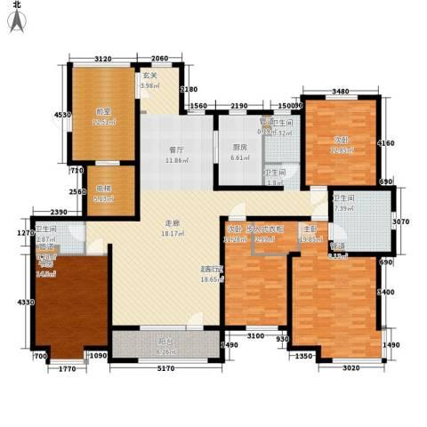 水榭花都4室0厅3卫1厨228.00㎡户型图