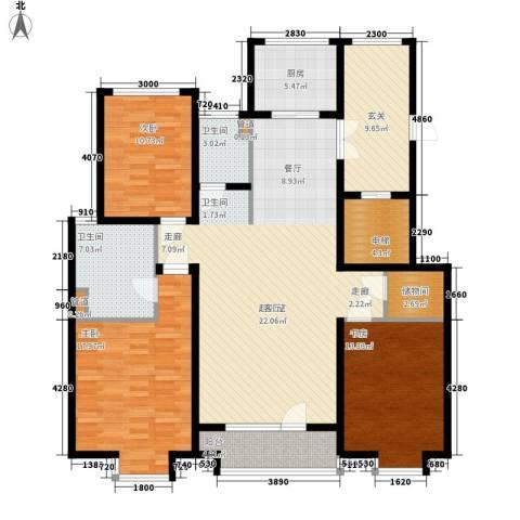 水榭花都3室0厅2卫1厨172.00㎡户型图