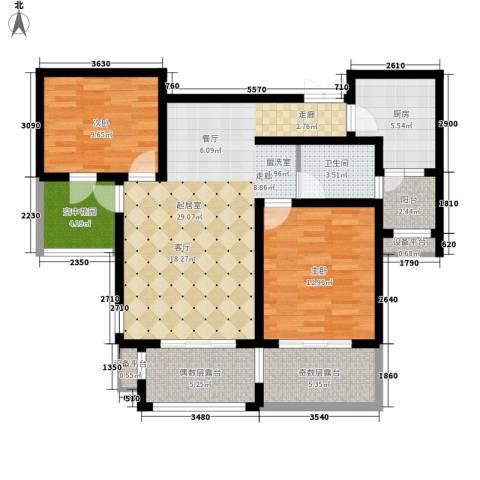 东市尚品2室0厅1卫1厨90.00㎡户型图