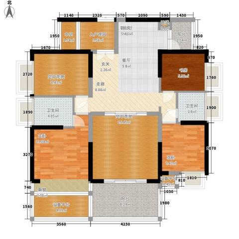 宝嘉上筑3室1厅2卫0厨117.00㎡户型图