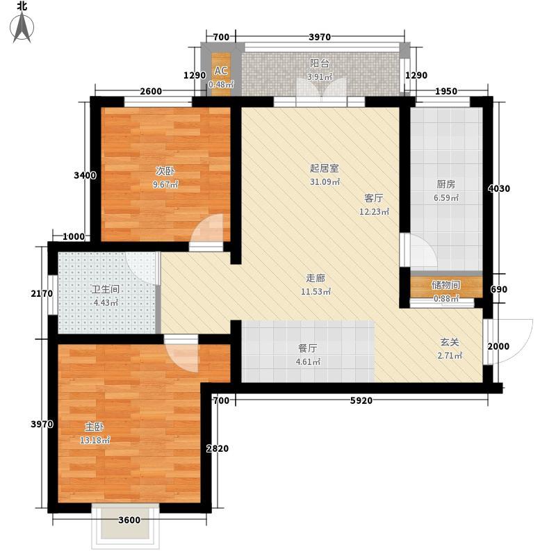 汇通新城101.00㎡汇通新城3#A户型2室2厅1卫1厨101.00㎡户型2室2厅1卫1厨