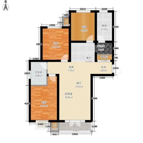 汇通新城3室0厅1卫1厨131.00㎡户型图