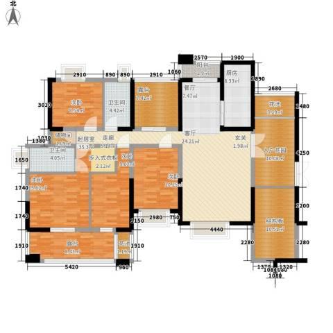 桥东街人行宿舍4室0厅2卫1厨200.00㎡户型图