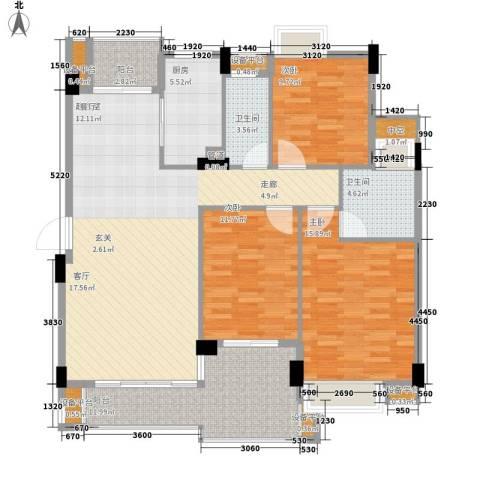 百合嘉园3室0厅2卫1厨120.00㎡户型图