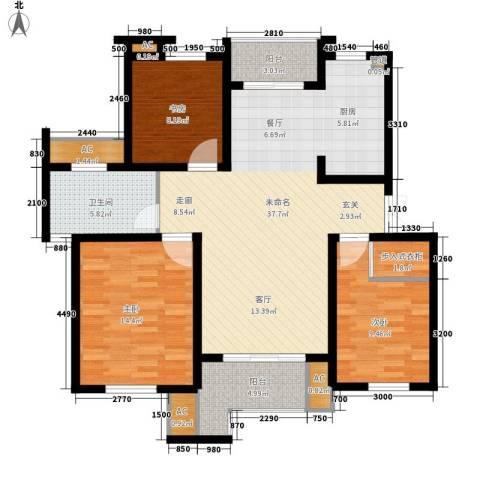 新港名墅花园3室0厅1卫0厨103.00㎡户型图