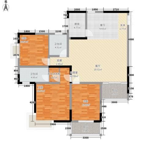 三重星都心3室0厅2卫1厨152.00㎡户型图
