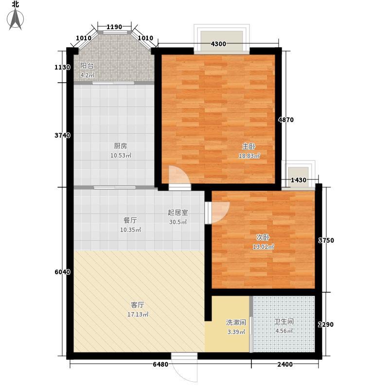 玫瑰公馆93.00㎡玫瑰公馆2室户型2室