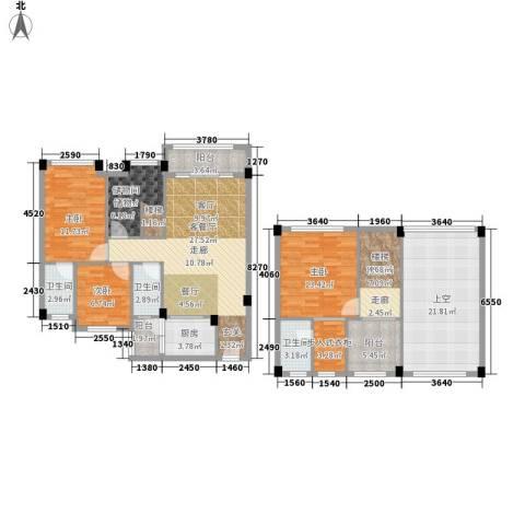 大福名城3室1厅3卫1厨174.00㎡户型图
