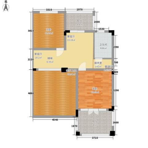 铭雅欧洲城2室0厅1卫0厨92.00㎡户型图