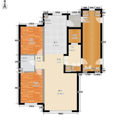 实华・金域蓝湾2室1厅1卫0厨167.00㎡户型图