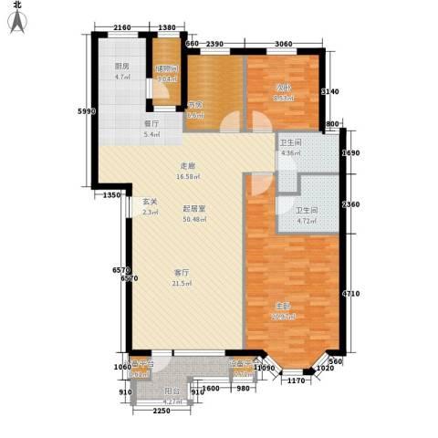 君悦天下3室0厅2卫0厨116.00㎡户型图